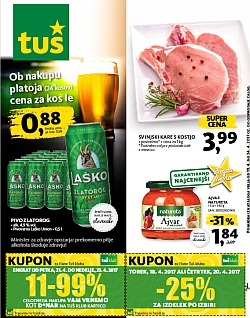 Tuš katalog trgovine in franšize do 24. 04.