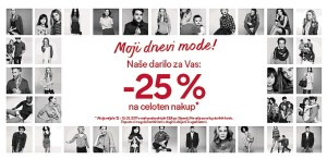 C&A vikend akcija – 25 % do 13. 05.