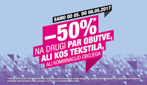 Hervis vikend akcija – 50 % na drugi par do 08. 05.