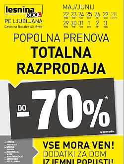 Lesnina katalog Totalna razprodaja Ljubljana