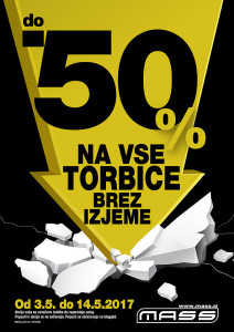 Mass akcija do – 50 % za vse torbice do 14. 05.