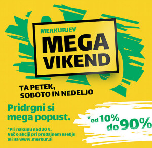 Merkur akcija Mega vikend do 21. 05.