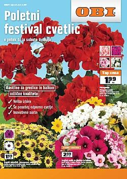 OBI katalog Poletni festival cvetlic