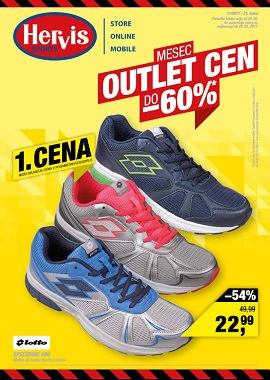 Hervis katalog Mesec outlet cen do -60%