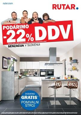Rutar katalog Podarimo -22% DDV
