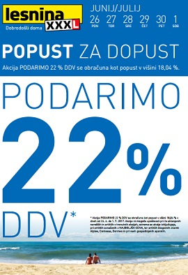 Lesnina katalog Popust za dopust do 1.7.