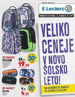 E Leclerc katalog Šola 2017