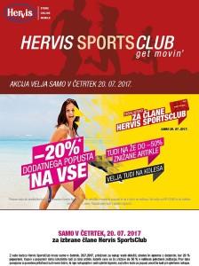 Hervis akcija – 20 % dodatnega popusta na vse 20. 07.