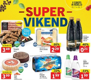 Lidl super vikend do 16. 07.