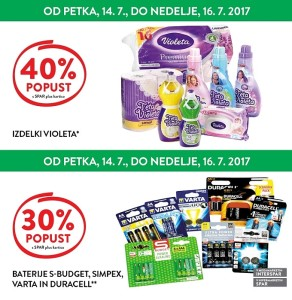 Spar in Interspar vikend akcija do 16. 07.