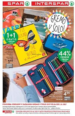 Spar in Interspar katalog Gremo v šolo