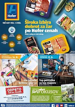 Hofer katalog od 14. 08. in od 17. 08.