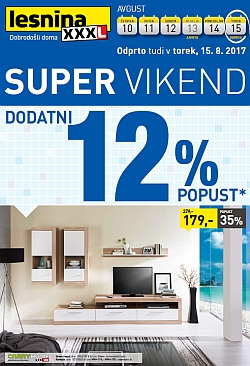 Lesnina katalog Super vikend do 15. 08.
