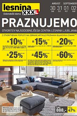 Lesnina katalog Praznujemo otvoritev Maribor in Levec