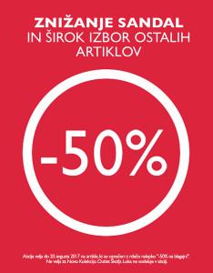 PittaRosso akcija – 50 % na sandale do 20. 08.