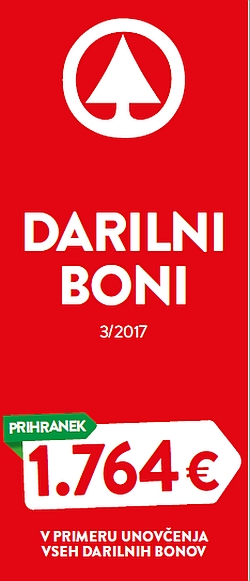 Spar in Interspar katalog Darilni boni 3/2017