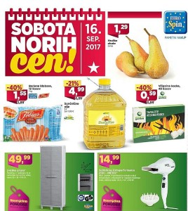 Eurospin sobota norih cen 16. 09.
