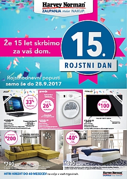 Harvey Norman katalog Rojstnodnevni popusti do 28. 09.