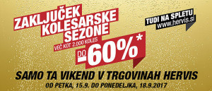 Hervis vikend akcija do – 60 % na kolesa do 18. 09.