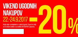 Intersport vikend akcija do 24. 09.