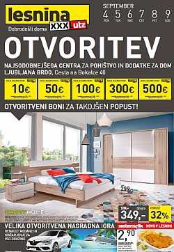 Lesnina katalog Otvoritev Ljubljana