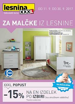 Lesnina katalog Za malčke do 30. 09.