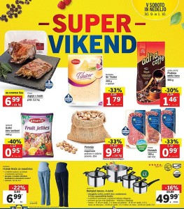 Lidl super vikend do 01. 10.