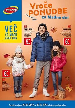 Pepco katalog Vroče ponudbe za hladne dni