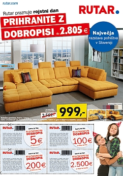Rutar katalog Prihranite z dobropisi do 30. 09.