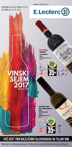 E Leclerc katalog Vinski sejem 2017