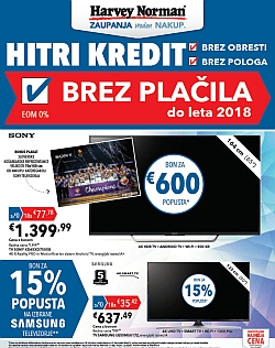 Harvey Norman katalog Hitri kredit tehnika