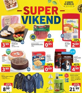 Lidl super vikend do 15. 10.