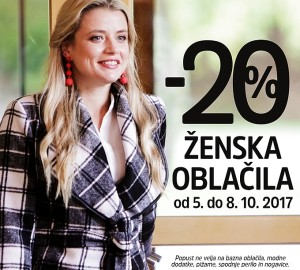 Mana akcija – 20 % na ženska oblačila do 08. 10.