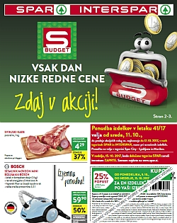 Spar in Interspar katalog do 17. 10.