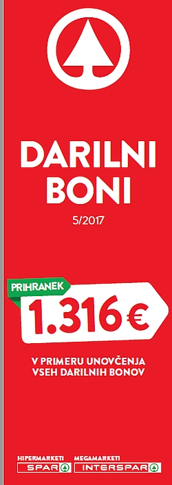 Spar in Interspar katalog Boni 05/2017