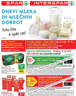 Spar in Interspar katalog do 24. 10.
