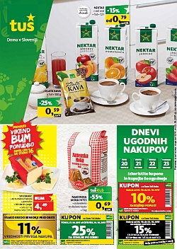 Tuš katalog trgovine in franšize do 23. 10.
