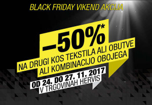 Hervis vikend akcija Black Friday do 27. 11.