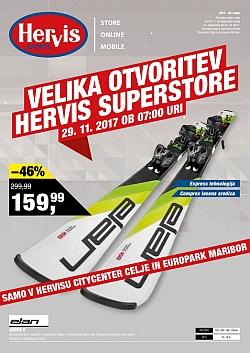 Hervis katalog Otvoritev Superstore