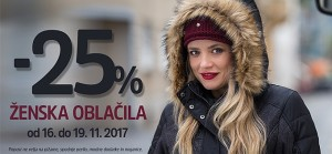 Mana akcija – 25 % na ženska oblačila do 19. 11.