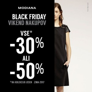 Modiana vikend akcija Black Friday do 26. 11.