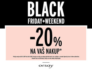 Orsay akcija Black Friday do 26. 11.