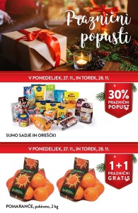 Spar in Interspar praznični popusti do 28. 11.