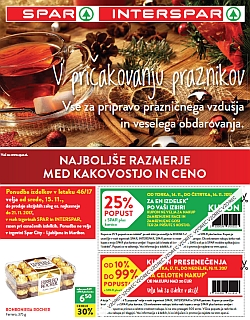 Spar in Interspar katalog do 21. 11.