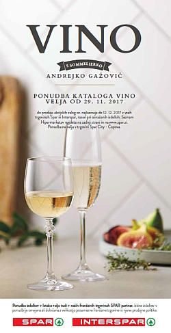 Spar in Interspar katalog Vino do 12. 12.