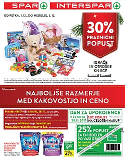 Spar in Interspar katalog do 05. 12.