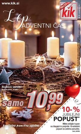 KiK katalog Adventni čas