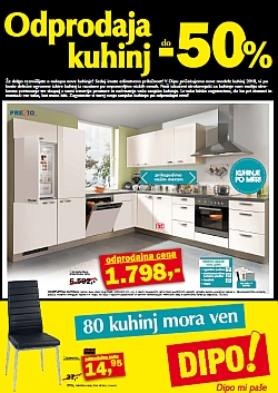 Dipo katalog Odprodaja kuhinj do 02. 01.