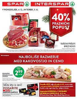 Spar in Interspar katalog do 12. 12.