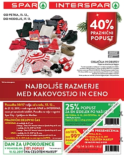 Spar in Interspar katalog do 27. 12.